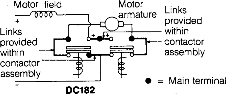 Circuit Diagram of DC Contactor Albright Model: 182B-537T
