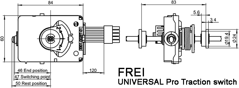 FREI Universal Pro Traction Switch Dimensions, model 3203-30630-A0, Upgraded Version of 3105F00136-00 - NOCO SHOP
