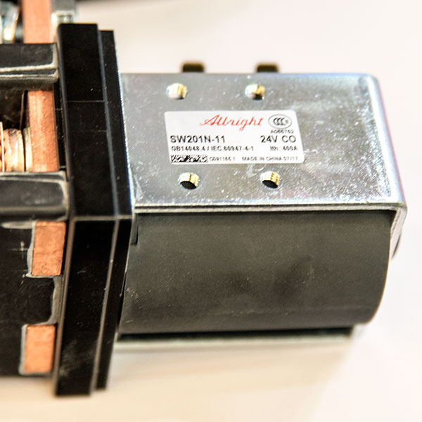Albright / CURTIS DC Contactor / Solenoid, SW201N-11, 24V 400A, ZAPI B4SW32