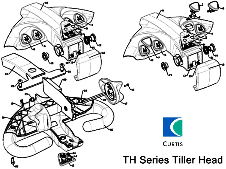CURTIS Tiller Head Model TH-1 Diagram