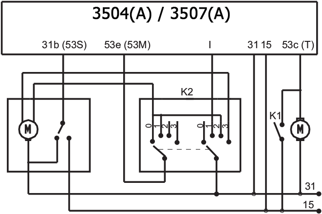 automotive intermittent wiper dc relay wiring diagram, hf3504a / hf3507 /  fh3507a